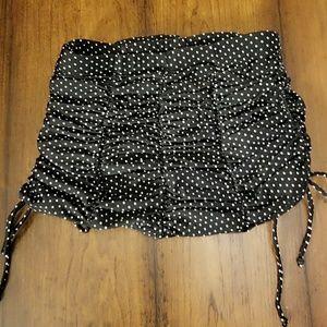 Unique Vintage Bikini Bottom Black Polka Dot xs